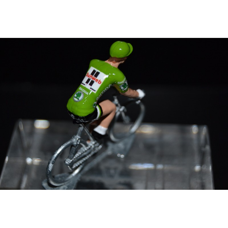 "Michael Matthews ""maillot vert2017"" Sunweb - petit cycliste en acier"