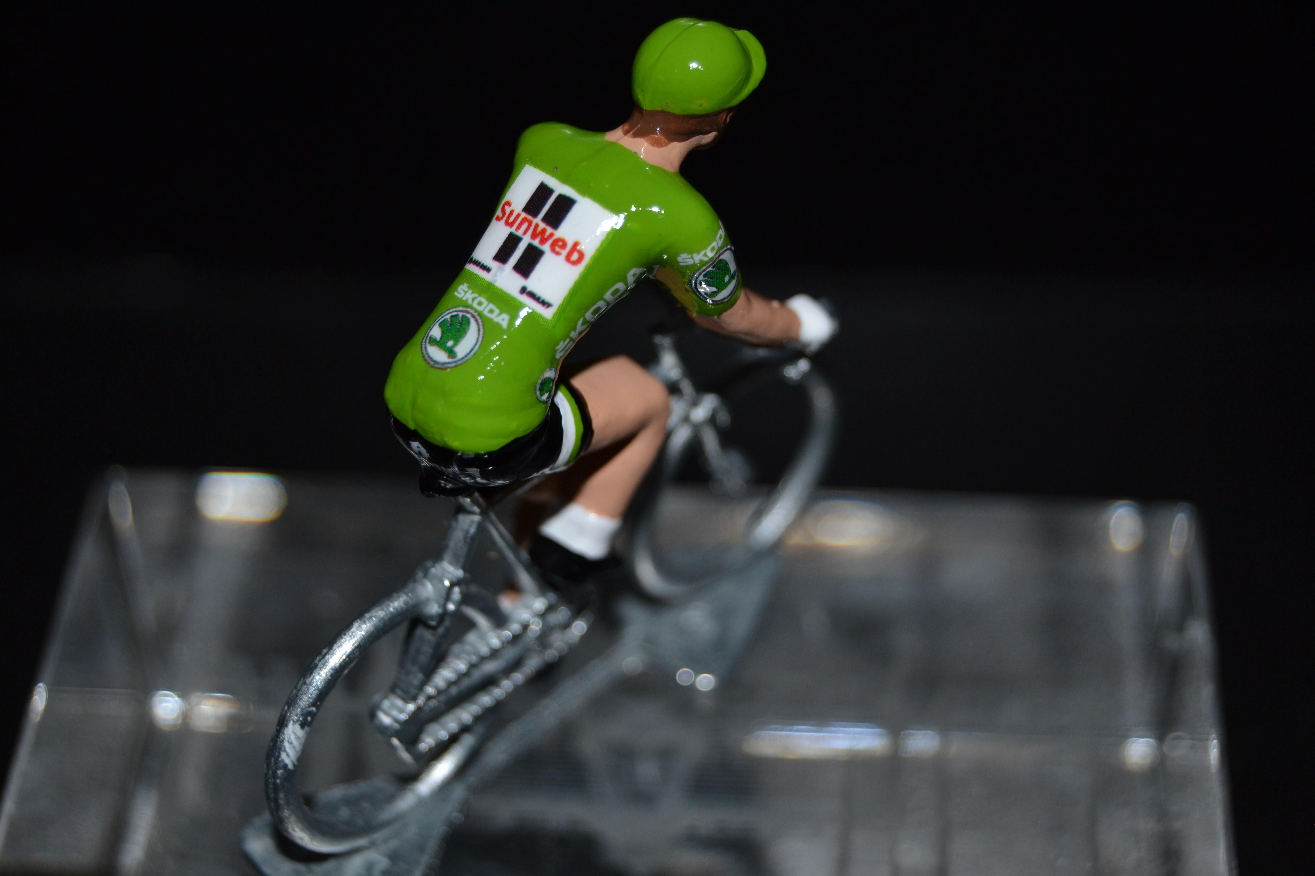 Petit cycliste Figurine Cycling figure Sunweb 2017
