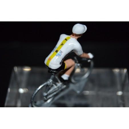 Sky édition spéciale jaune , dernière étape du tour 2017 - Petit cycliste en acier
