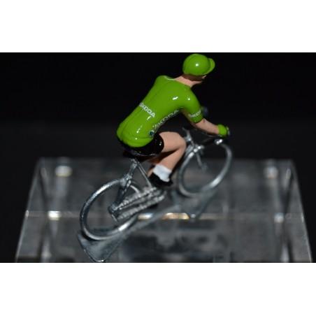 Maillot vert Vuelta - petit cycliste en metal