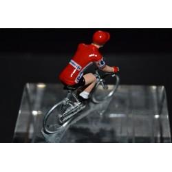 Maillot Rouge Vuelta - petit cycliste en metal