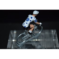 Maillot a pois bleus Vuelta - petit cycliste en metal