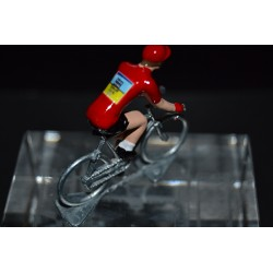 "Alberto Contador ""maillot rouge vuelta"" Tinkoff - die cats cycling figurine"