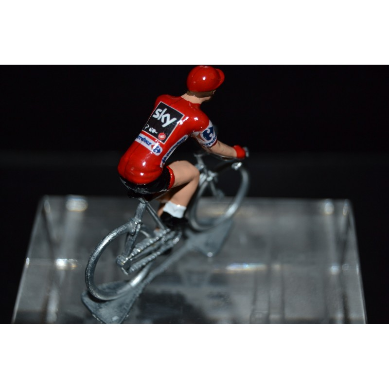 "Christopher Froome ""maillot rouge La Vuelta"" Sky - die cast cycling figurine"