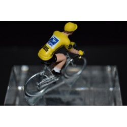 Armstrong Yellow US Postal - cyclist figurine
