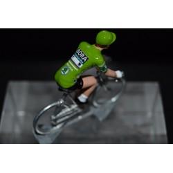 """Peter Sagan """"green jersey 2018"""" Bora Hansgrohe - petit cycliste en acier - die cast cycling figurine cyclist"""
