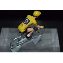 """Geraint Thomas """"maillot jaune 2018"""" Sky - petit cycliste en acier"""