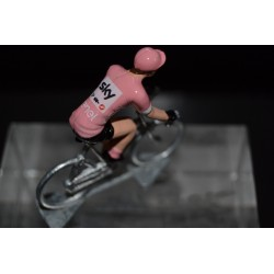 "Chris Froome ""pink jersey 2018 giro"" Sky - petit cycliste en acier- die cast cycling figurine cyclist"