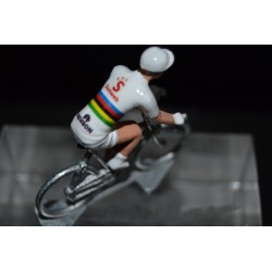 """Tom Dumoulin """"champion du monde contre la montre"""" Sunweb - petit cycliste en acier figurine cycliste"""