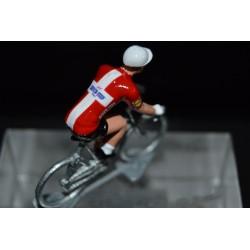 """Michael Morkov """"champion du Danemark 2018"""" Quick Step - petit cycliste en acier figurine cycliste"""