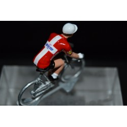 "Michael Morkov ""Denmark Champion 2018"" Quick Step - petit cycliste en acier - die cast cycling figurine cyclist"