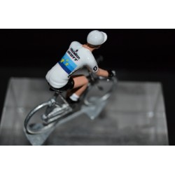"Matteo Trentin ""champion d'Europe 2018"" Mitchelton Scott - petit cycliste en acier - die cast cycling figurine cyclist"