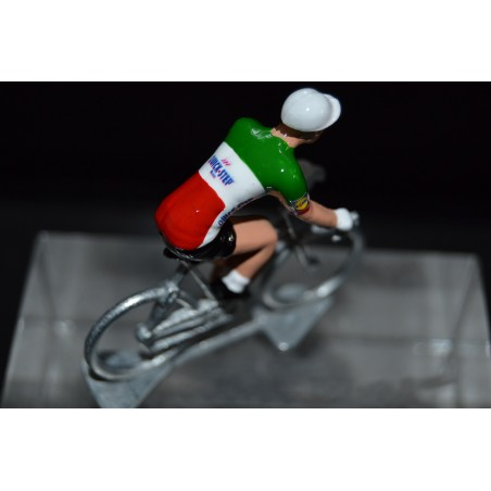 "Elia Viviani "" Italian Champion"" Quick Step - petit cycliste en acier - die cast cycling figurine cyclist"
