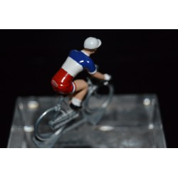 "Anthony Roux ""France Champion 2018"" Groupama FDJ - petit cycliste en acier - die cast cycling figurine cyclist"