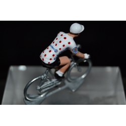 Maillot a pois Leclerc 2019 - figurine petit cycliste