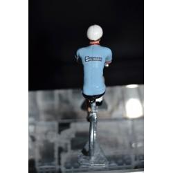 Salvarani - petit cycliste en metal
