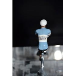 Bianchi Pirelli - petit cycliste en plomb metal zamak
