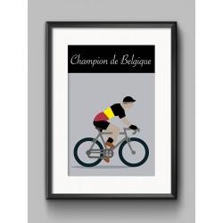 Poster Champion Belgique