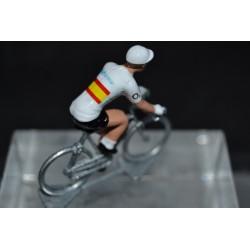 Valverde champion espagne 2020 Movistar figurine petit cycliste