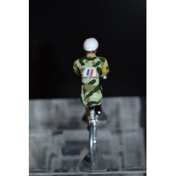 Armee de terre - petit cycliste miniature en metal