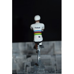 "Peter Sagan ""Champion du monde"" - petit cycliste miniature en metal"