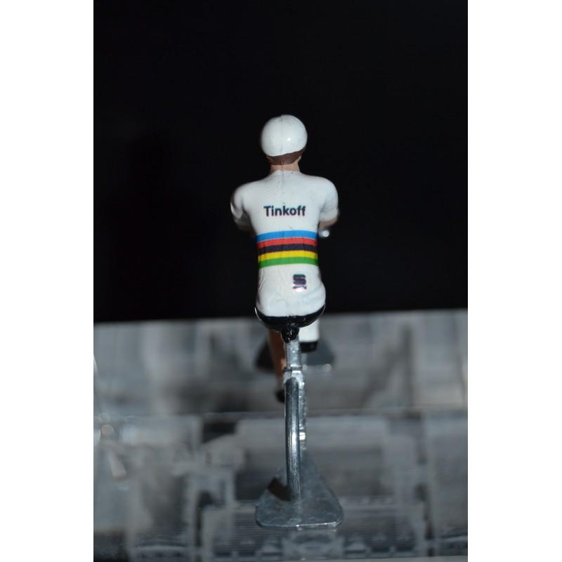 "Peter Sagan ""Champion du monde"" - petit cycliste miniature en metal"