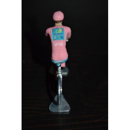 "Vincenzo Nibali ""Vainqueur Giro 2016, maillot rose"" - petit cycliste miniature en metal"