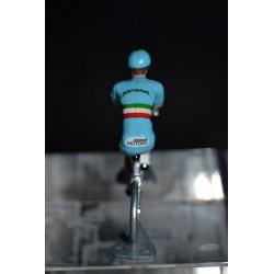 "Vincenzo Nibali ""Champion d'italie"" - petit cycliste miniature en metal"