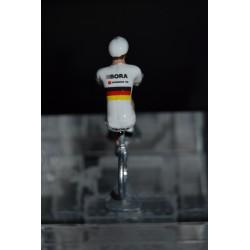 """Emanuel Buchmann """"Champion d'Allemagne 2015"""" Bora Argon - Petit cycliste en métal"""