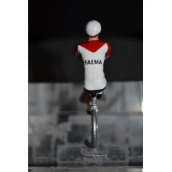FAEMA 1969 - Petit cycliste miniature en acier