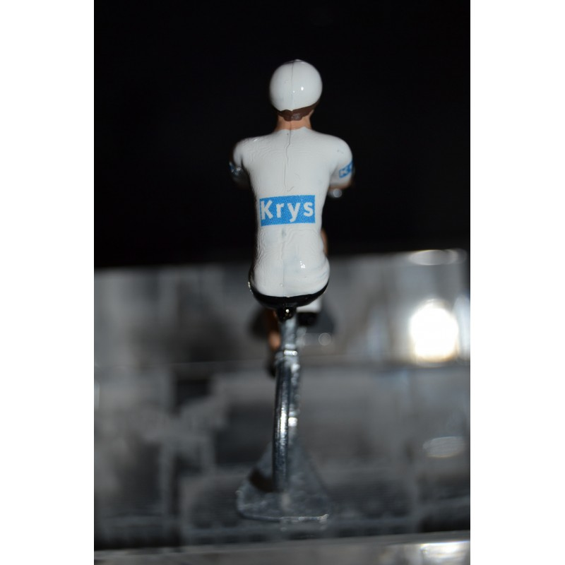 White jersey 2016 - metal  cyclist figurine