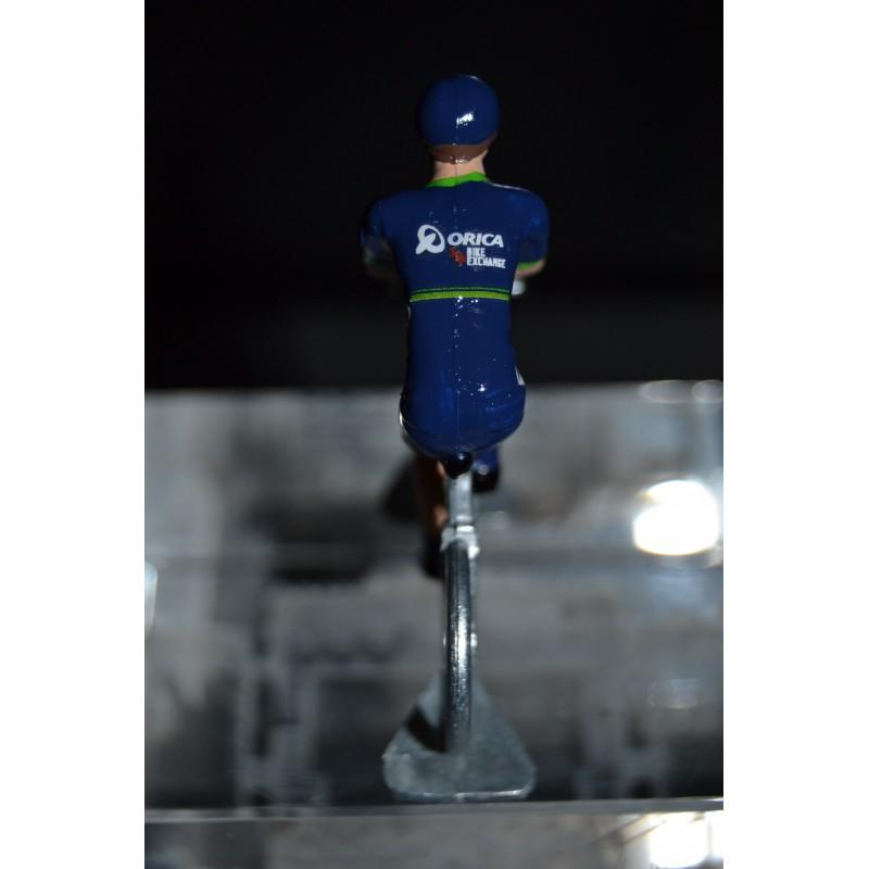 Orica Bike Exchange - die cast metal cycling figurine