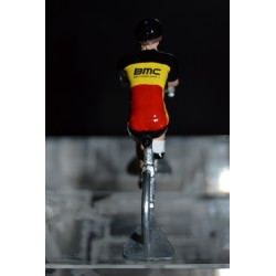 Champion de Belgique 2016/2017 Philippe Gilbert - petit cycliste miniature en acier