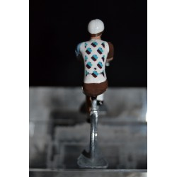 AG2R La Mondiale - metal cyclist figurine handpainted