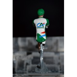 Crédit Agricole - Petit cycliste miniature en acier