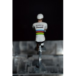 "Felice Gimondi ""World Champion"" Bianchi Campagnolo - metal cyclist figurine"