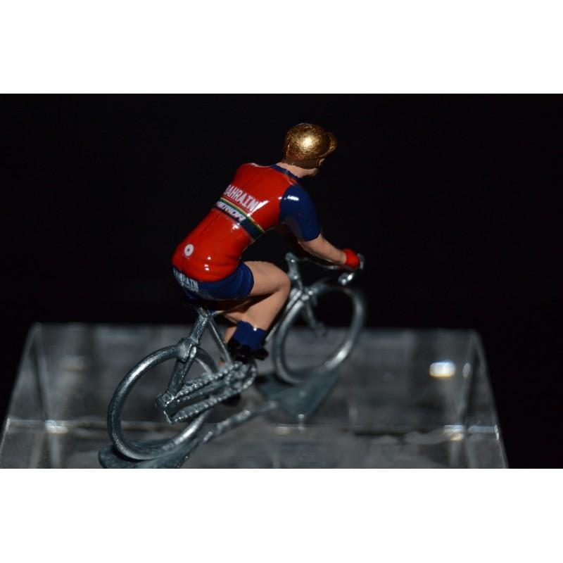 Bahrein Merida 2017 - petit cycliste miniature en metal