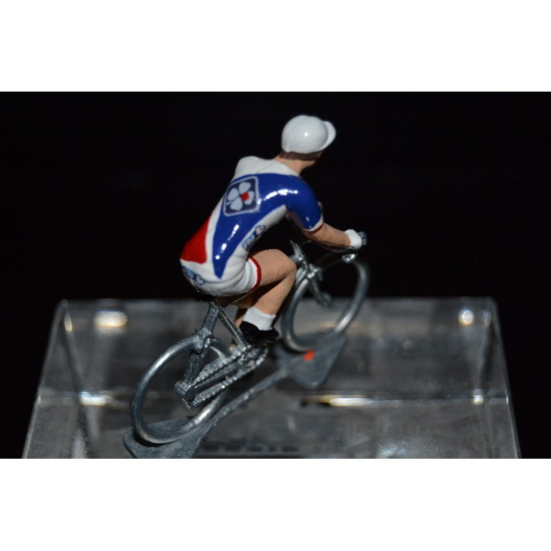 FDJ 2017 - petit cycliste miniature en metal