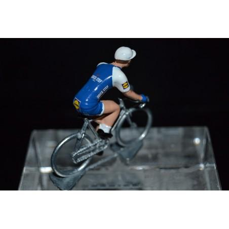 Quick Step Floors 2017 - petit cycliste miniature en metal