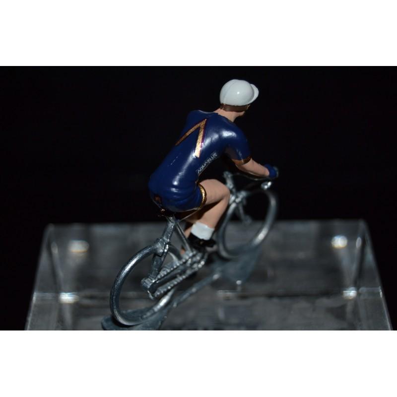 Aqua Blue Sport 2017 - petit cycliste miniature en metal