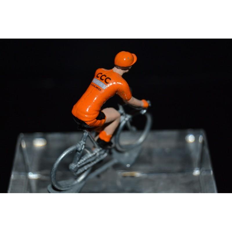 CCC Sprandi Polkowice 2017 - petit cycliste miniature en metal