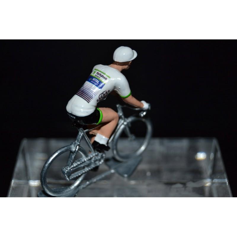 Fortuneo Vital Concept 2017 - petit cycliste miniature en metal