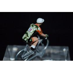 EC Armée de terre 2017 - petit cycliste miniature en metal