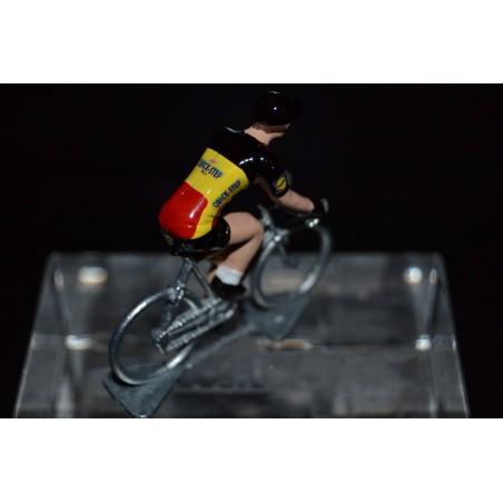 Champion de Belgique 2016/2017 Philippe Gilbert - petit cycliste miniature en metal