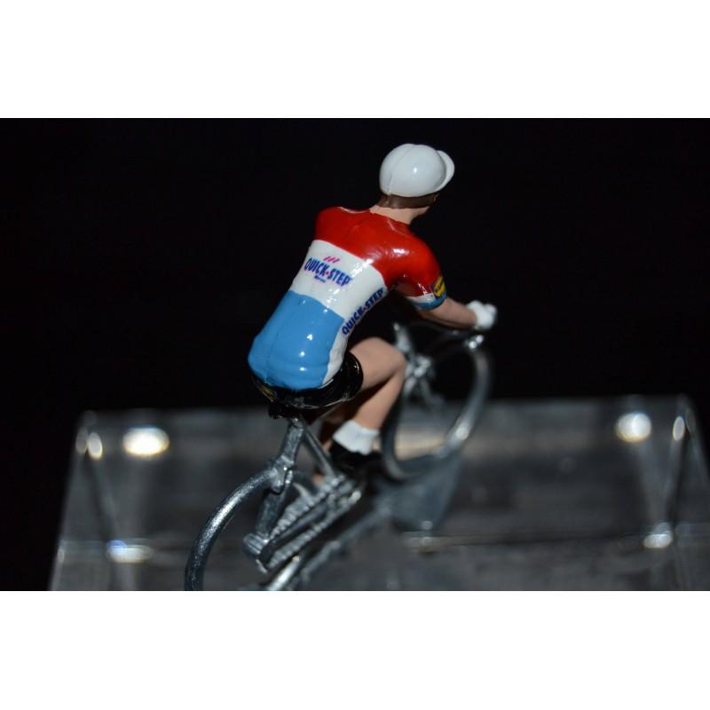Champion du Luxembourg 2016/2017 Bob Jungels - petit cycliste miniature en metal