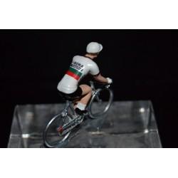Champion du Portugal 2016/2017 José Mendes - petit cycliste miniature en metal