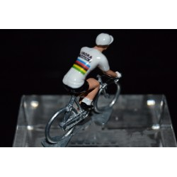 Champion du Monde 2016/2017 Peter Sagan - petit cycliste miniature en metal