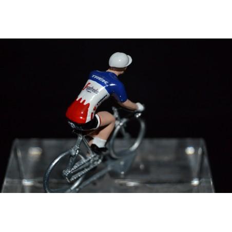 Champion des Etats Unis 2016/2017 Gregory Daniel - petit cycliste miniature en metal