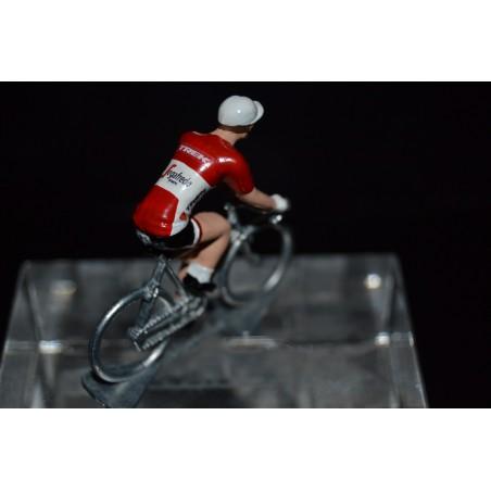 Champion d'Autriche 2016/2017 Matthias Brändle - petit cycliste miniature en metal