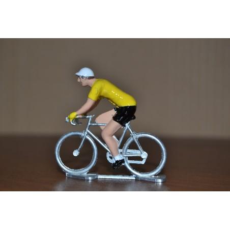 Cycliste Maillot Jaune